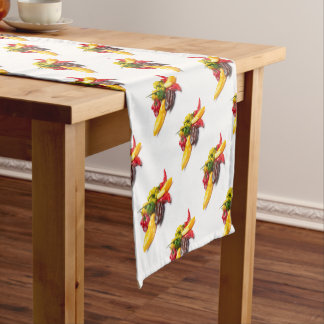 Hottest chilies short table runner