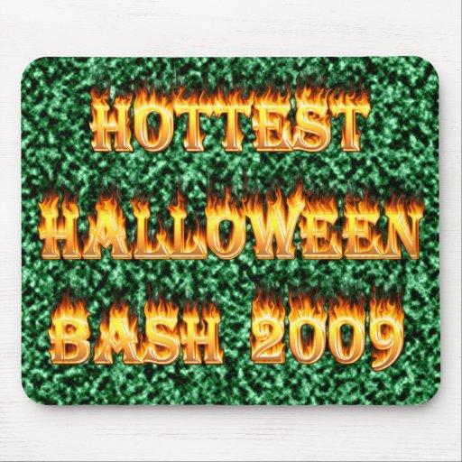 Hottest Halloween Bash 2009 Green Mousepads