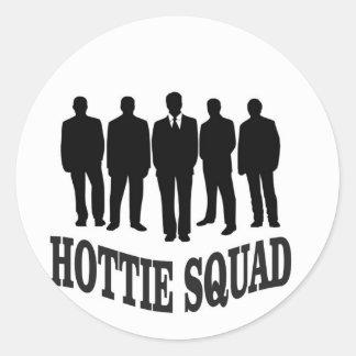 hottie squad classic round sticker