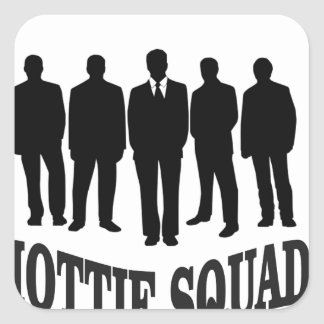 hottie squad square sticker