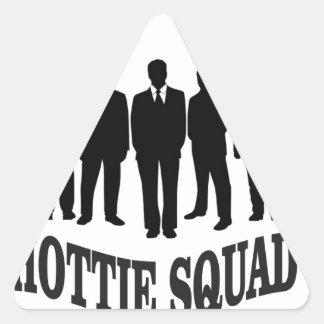 hottie squad triangle sticker
