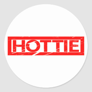 Hottie Stamp Classic Round Sticker
