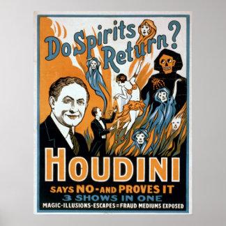 Houdini Magician Poster