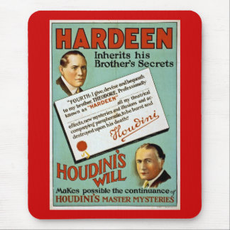 Houdini s Brother Hardeen Vintage Advertisement Mouse Pads