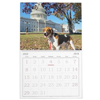Hound District 18 Month Calendar