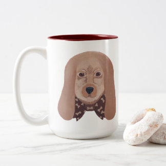 Hound Dog Big Ears Painting Coffee Mugs