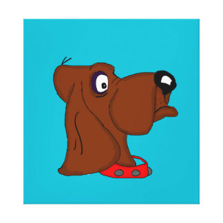 Hound dog cards and paper products gallery wrap canvas