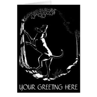 Hound Dog Cards Personalized Dog Art Greeting Card