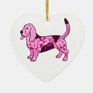 Hound Dog Ceramic Ornament