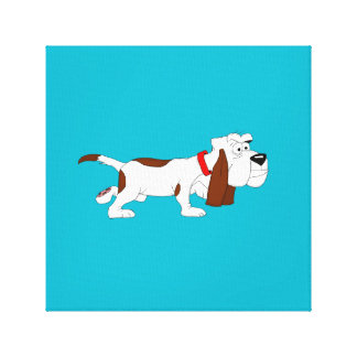 """Hound Dog"" design stationery Stretched Canvas Print"