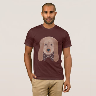 Hound Dog Face Bone Bow Tie Tee Shirts