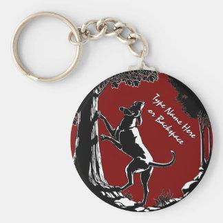 Hound Dog Keychain Personalized Hunting Dog Gift