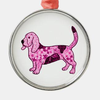 Hound Dog Metal Ornament