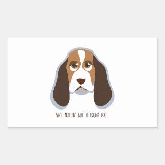 Hound Dog Rectangular Sticker