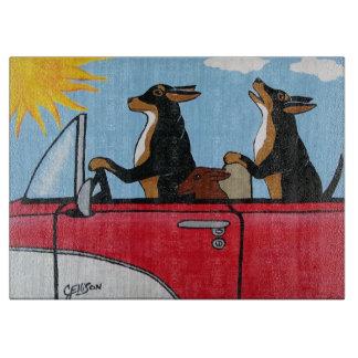 Hound Dogs Cruising Cutting Board
