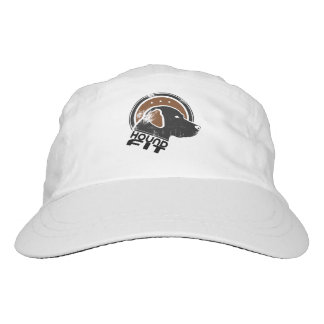 Hound Fit Woven Performance Hat, White Hat