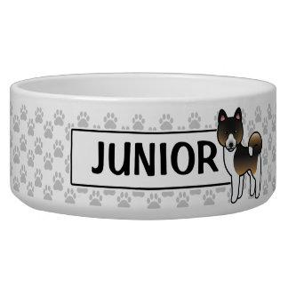 Hound Tricolor Akita Cartoon Dog Dog Water Bowl