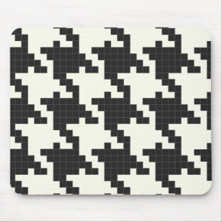 Hounds Tooth Pixel-Textured Mouse Pad
