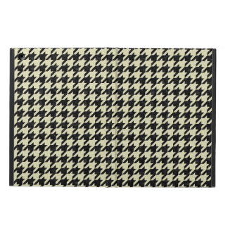 HOUNDSTOOTH1 BLACK MARBLE & BEIGE LINEN iPad AIR CASE