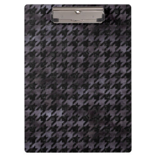 HOUNDSTOOTH1 BLACK MARBLE & BLACK WATERCOLOR CLIPBOARD