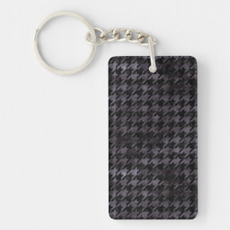 HOUNDSTOOTH1 BLACK MARBLE & BLACK WATERCOLOR KEYCHAIN