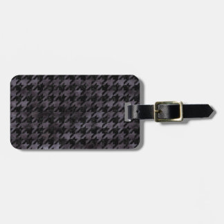 HOUNDSTOOTH1 BLACK MARBLE & BLACK WATERCOLOR LUGGAGE TAG