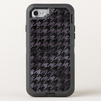 HOUNDSTOOTH1 BLACK MARBLE & BLACK WATERCOLOR OtterBox DEFENDER iPhone 8/7 CASE