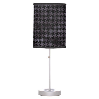 HOUNDSTOOTH1 BLACK MARBLE & BLACK WATERCOLOR TABLE LAMP