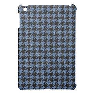 HOUNDSTOOTH1 BLACK MARBLE & BLUE DENIM iPad MINI COVER