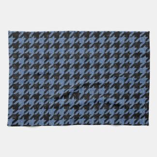 HOUNDSTOOTH1 BLACK MARBLE & BLUE DENIM KITCHEN TOWELS