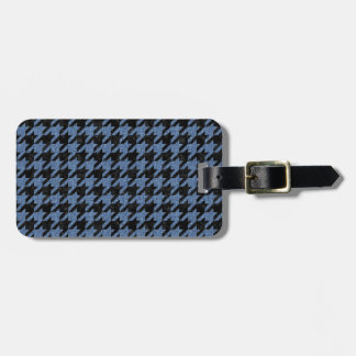 HOUNDSTOOTH1 BLACK MARBLE & BLUE DENIM LUGGAGE TAG