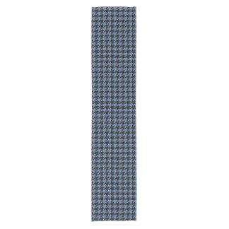 HOUNDSTOOTH1 BLACK MARBLE & BLUE DENIM SHORT TABLE RUNNER