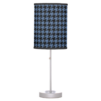 HOUNDSTOOTH1 BLACK MARBLE & BLUE DENIM TABLE LAMP