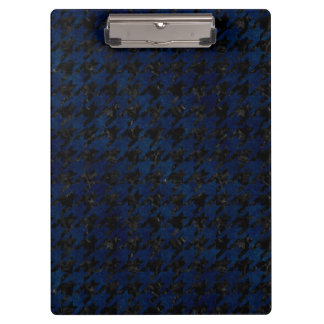 HOUNDSTOOTH1 BLACK MARBLE & BLUE GRUNGE CLIPBOARD
