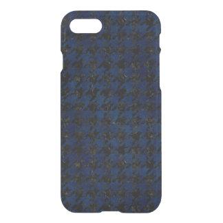 HOUNDSTOOTH1 BLACK MARBLE & BLUE GRUNGE iPhone 7 CASE