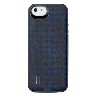 HOUNDSTOOTH1 BLACK MARBLE & BLUE GRUNGE iPhone SE/5/5s BATTERY CASE
