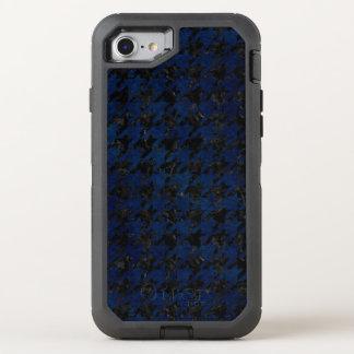 HOUNDSTOOTH1 BLACK MARBLE & BLUE GRUNGE OtterBox DEFENDER iPhone 8/7 CASE