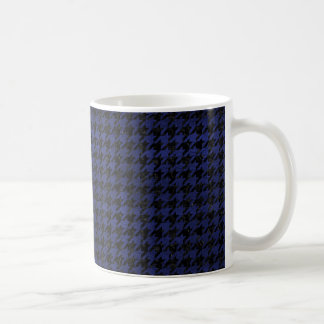 HOUNDSTOOTH1 BLACK MARBLE & BLUE LEATHER COFFEE MUG
