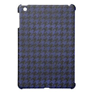 HOUNDSTOOTH1 BLACK MARBLE & BLUE LEATHER COVER FOR THE iPad MINI