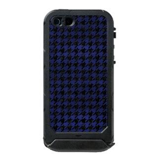 HOUNDSTOOTH1 BLACK MARBLE & BLUE LEATHER INCIPIO ATLAS ID™ iPhone 5 CASE