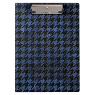 HOUNDSTOOTH1 BLACK MARBLE & BLUE STONE CLIPBOARD