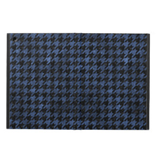 HOUNDSTOOTH1 BLACK MARBLE & BLUE STONE COVER FOR iPad AIR