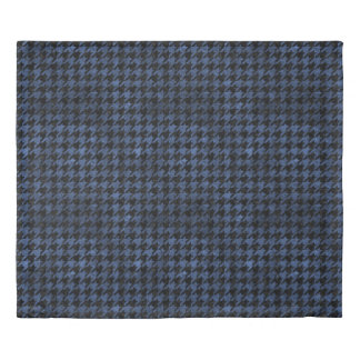HOUNDSTOOTH1 BLACK MARBLE & BLUE STONE DUVET COVER