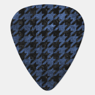 HOUNDSTOOTH1 BLACK MARBLE & BLUE STONE GUITAR PICK
