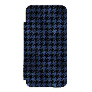 HOUNDSTOOTH1 BLACK MARBLE & BLUE STONE INCIPIO WATSON™ iPhone 5 WALLET CASE