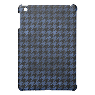 HOUNDSTOOTH1 BLACK MARBLE & BLUE STONE iPad MINI COVER