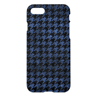 HOUNDSTOOTH1 BLACK MARBLE & BLUE STONE iPhone 7 CASE