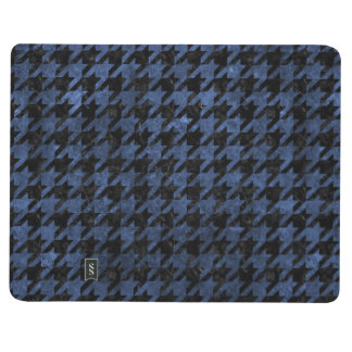 HOUNDSTOOTH1 BLACK MARBLE & BLUE STONE JOURNAL