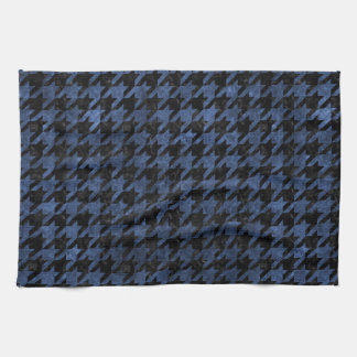 HOUNDSTOOTH1 BLACK MARBLE & BLUE STONE KITCHEN TOWEL