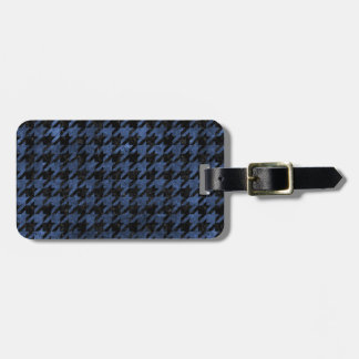HOUNDSTOOTH1 BLACK MARBLE & BLUE STONE LUGGAGE TAG